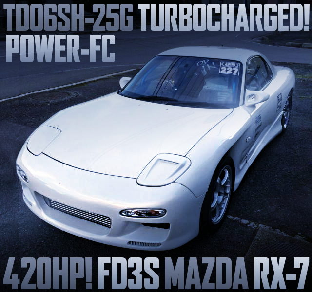 TD06SH-25G TURBO FD3S RX7 WHITE