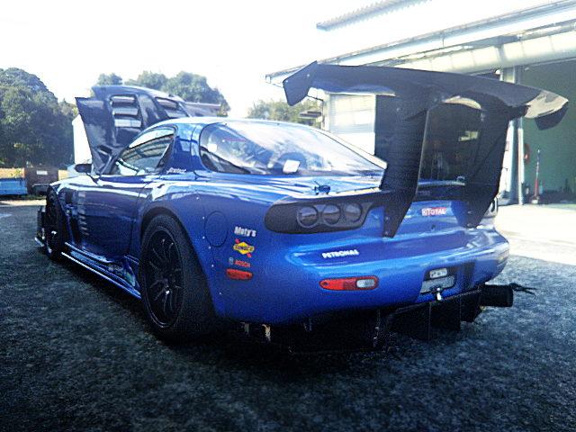 REAR EXTERIOR FD3S RX7 BLUE