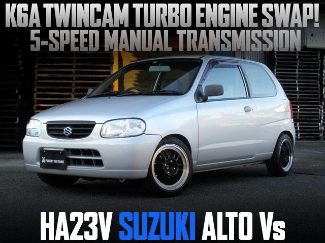 K6A TWINCAM TURBO ENGINE SWAP HA23V ALTO Vs