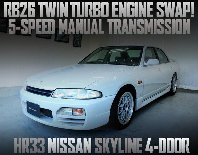 RB26 TWINTURBO ENGINE HR33 SKYLINE 4-DOOR GTS