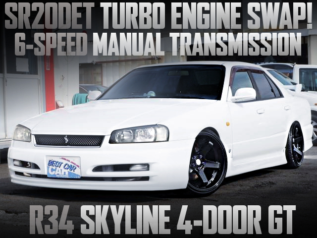 BLACK TOP SR20 TURBO ENGINE WITH 6MT R34 SKYLINE SEDAN