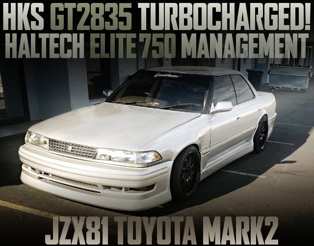 HKS GT2835 TURBO HALTECH 750 JZX81 MARK2