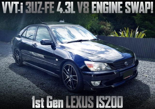 3UZ-FE 4300cc V8 ENGINE SWAP 1ST GEN LEXUS IS200