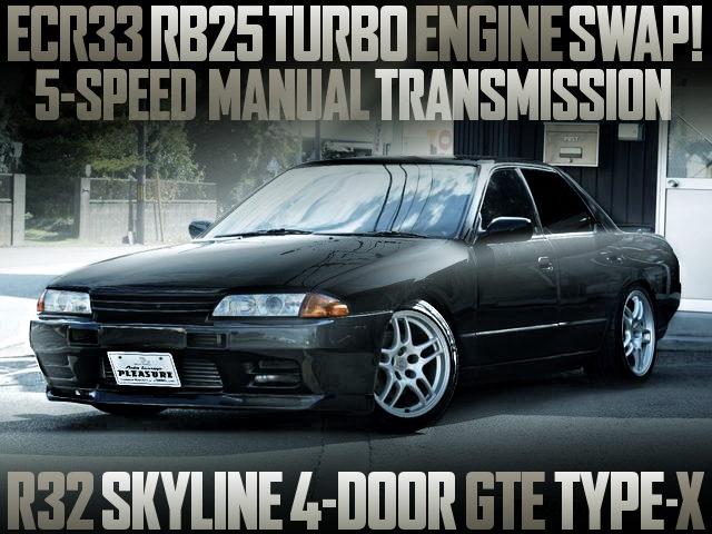 RB25DET WITH 5MT R32 SKYLINE 4-DOOR GTE TYPE-X