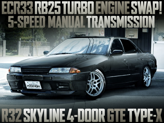 RB25DET WITH 5MT R32 SKYLINE 4-DOOR GTE TYPE-X