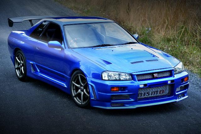 FRONT EXTERIOR R32 GTR BAYSIDE BLUE