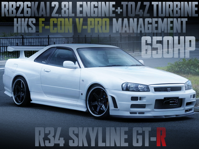 TO4Z TURBO 650HP R34 GTR WHITE