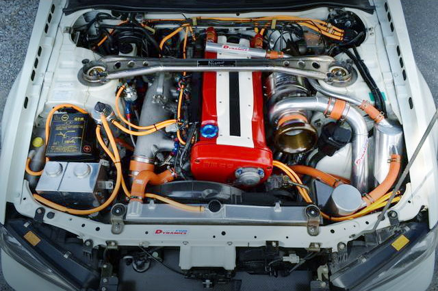 RB26 ENGINE WITH TO4R SINGLE TURBO