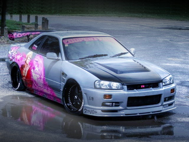 FRONT EXTERIOR R34 SKYLINE GRAY