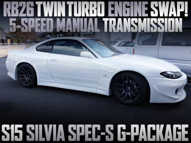RB26 TWINTURBO ENGINE SWAP S15 SILVIA