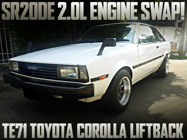 SR20DE ENGINE SWAP TE71 COROLLA LIFTBACK