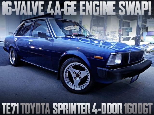 16-VALVE 4AGE SWAP TE71 SPRINTER 4-DOOR 1600GT