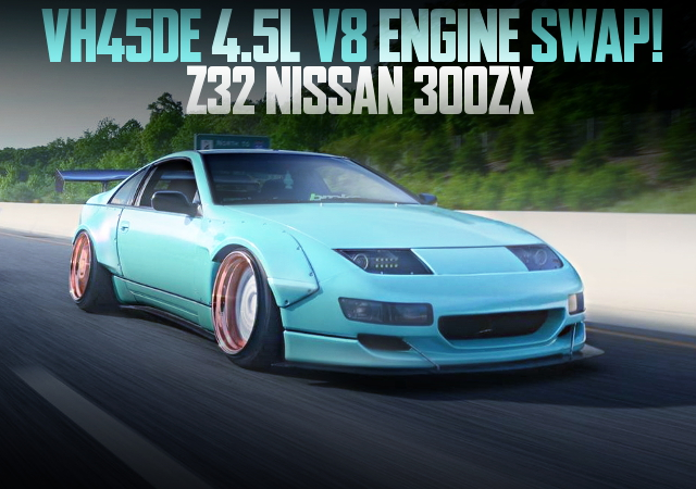 VH45DE V8 ENGINE SWAP Z32 300ZX MINT COLOR