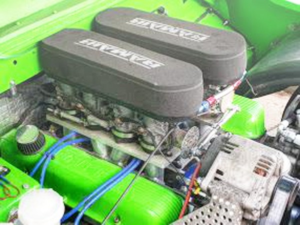 ZZR1400 ITB ON ROVER 4600cc V8 ENGINE