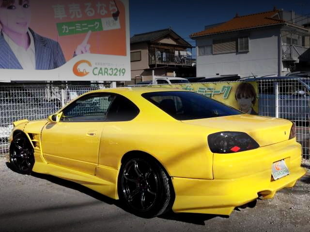 REAR EXTERIOR S15 SILVIA YELLOW