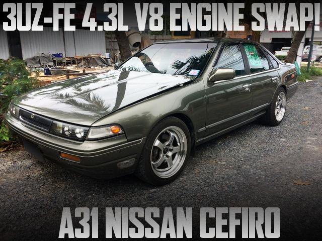 3UZ 4300cc V8 ENGINE INTO A31 CEFIRO