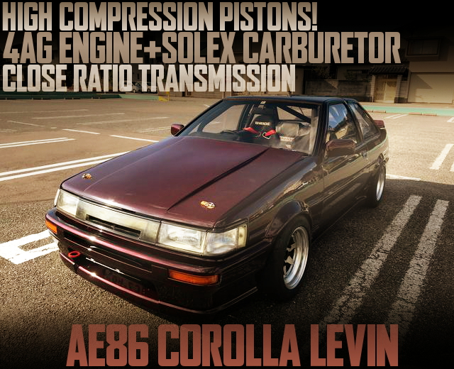 4AG ON SOLEX CARB INTO AE86 LEVIN