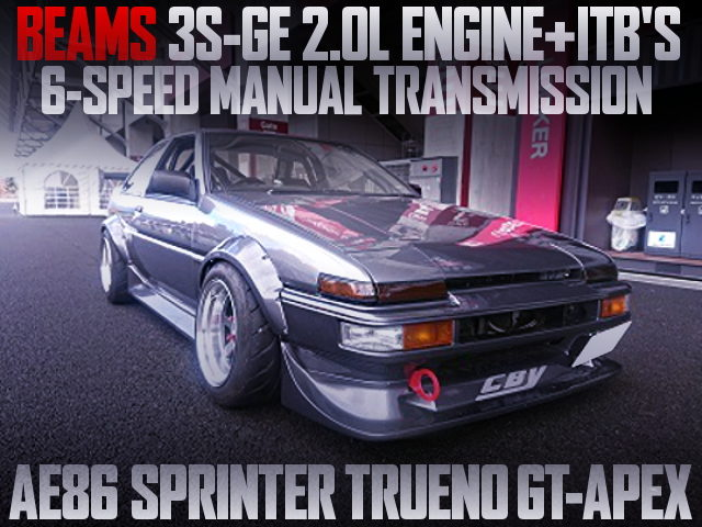3S-GE WITH AE111 ITB AND 6MT INTO AE86 TRUENO