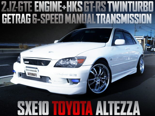 2JZ WITH GT-RS TWINTURBO SXE10 ALTEZZA