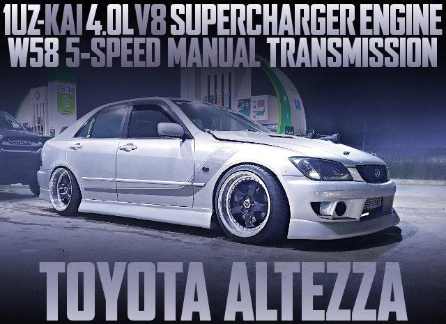 1UZ V8 SUPERCHARGER ENGINE ALTEZZA