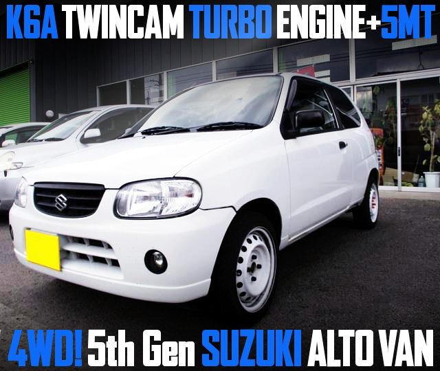 K6A TWINCAM TURBO ENGINE WITH 5MT 5th Gen ALTO VAN 4WD