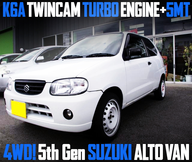 K6A TWINCAM TURBO ENGINE WITH 5MT 5th Gen ALTO VAN 4WD