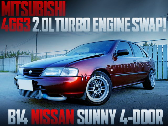 4G63 TURBO ENGINE SWAP B14 SUNNY 4-DOOR