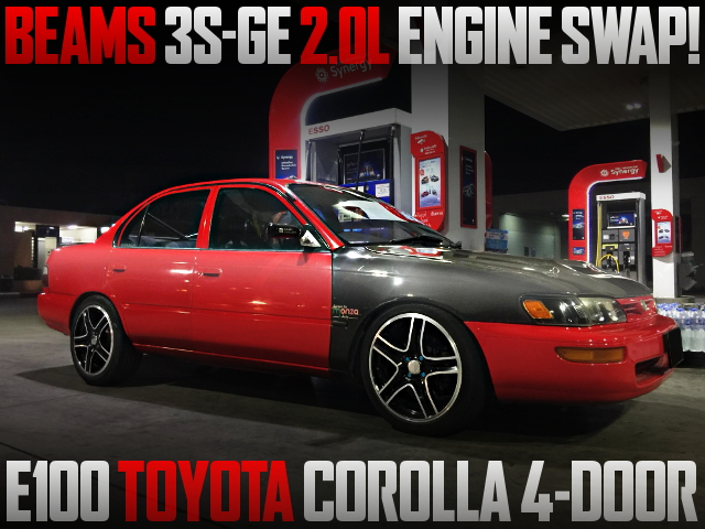 BEAMS 3S-GE ENGINE INTO E100 COROLLA SEDAN