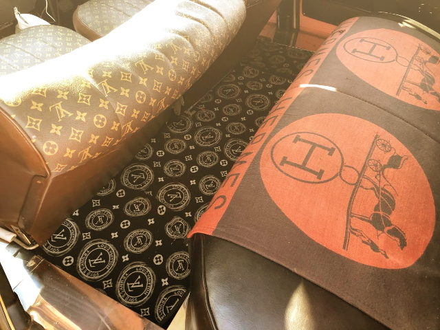 HERMES SEAT AND LV FLOOR