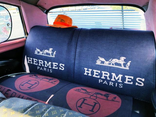 HERMES LOGO REAR SEAT
