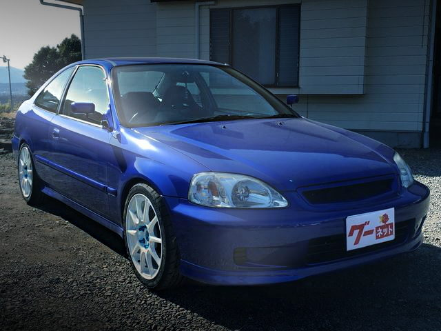 FRONT EXTERIOR EJ7 CIVIC COUPE BLUE