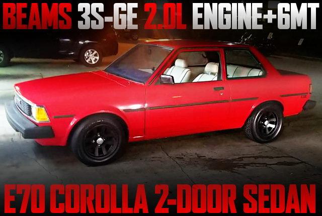 3SGE ENGINE SWAP E70 COROLLA 2DOOR SEDAN