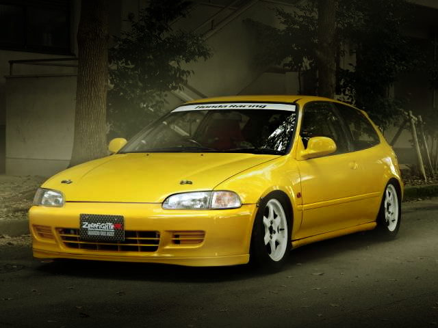 FRONT EXTERIOR EG6 CIVIC SIR2 YELLOW