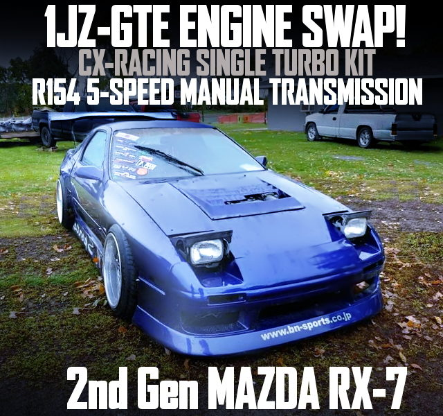 1JZ-GTE ENGINE WITH CXRacing TURBO INTO FC RX7