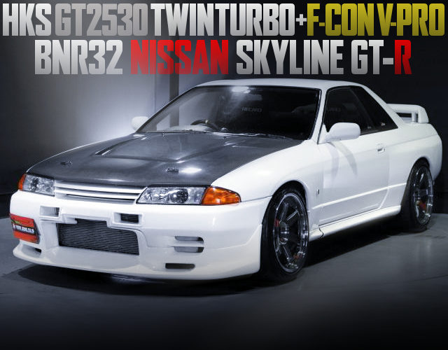 GT2530 TWIN TURBOCHARGED R32GTR WHITE
