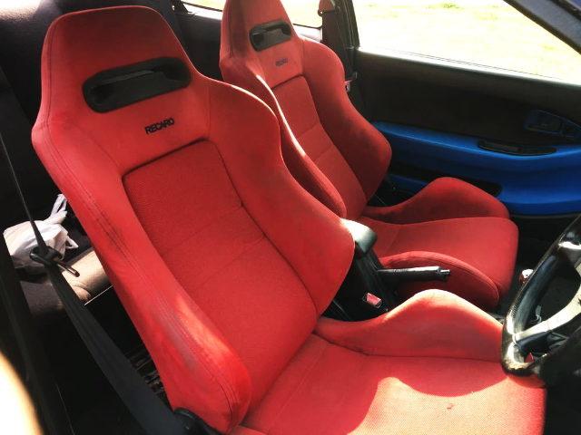 RECARO SEATS RED