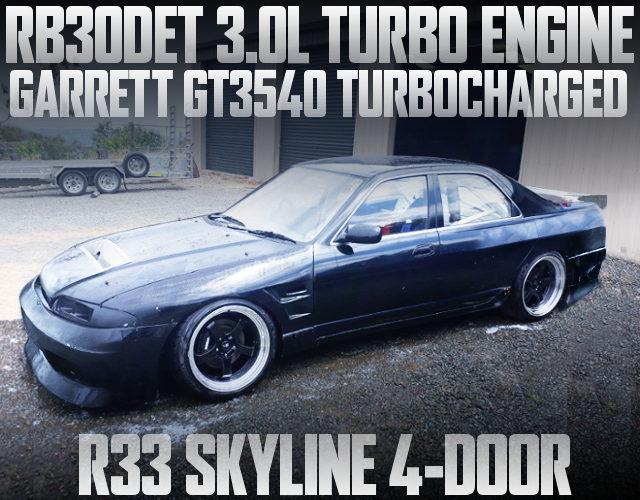 RB30DET ENGINE WITH GT3540 R33 SKYLINE 4-DOOR