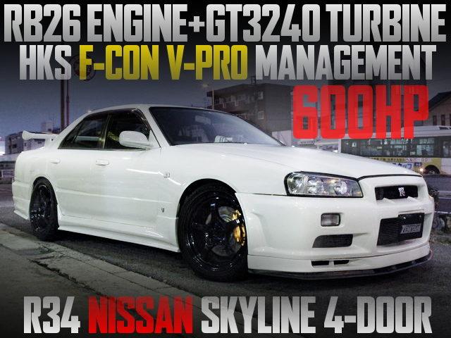 RB26 ENGINE GT3240 TURBO R34 SKYLINE SEDAN