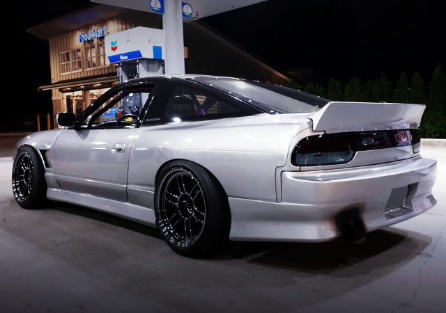 REAR EXTERIOR S13 240SX HATCH SILVER