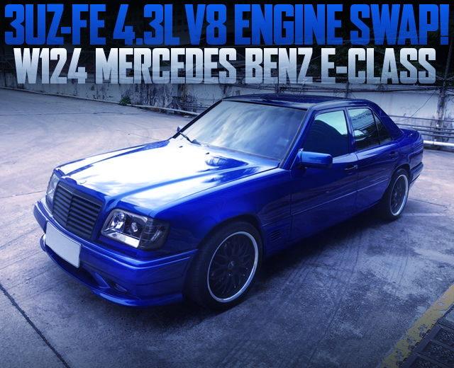 3UZ-FE V8 ENGINE SWAP W124 BENZ E-CLASS BLUE
