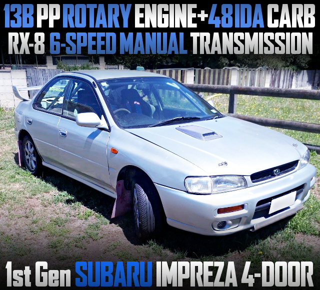 13B ROTARY ENGINE WITH 6MT 1st Gen IMPREZA 4DOOR