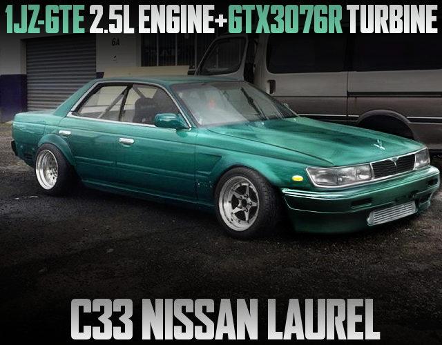 1JZ-GTE ENGINE WITH GTX3076R TURBO C33 LAUREL