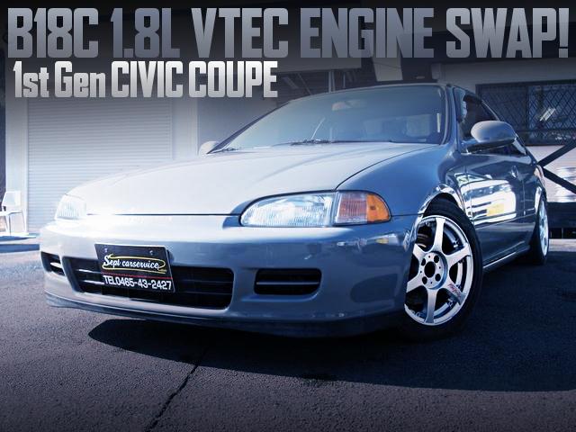 B18C VTEC ENGINE WITH 5MT 1st Gen CIVIC COUPE