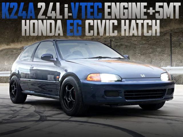 K24A ENGINE SWAP EG CIVIC HATCH