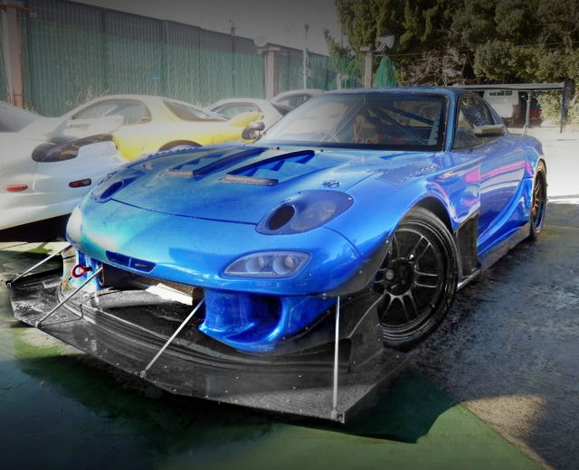 FRONT EXTERIOR FD3S RX-7 BLUE WIDEBODY