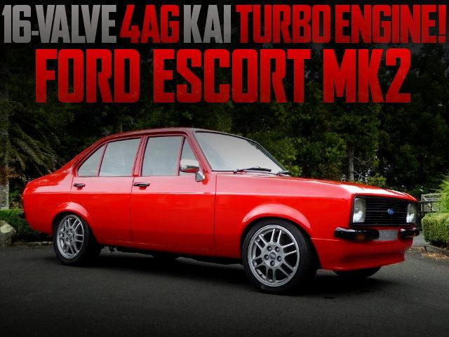 4AG TURBO ENGINE SWAP FORD ESCORT MK2 RED