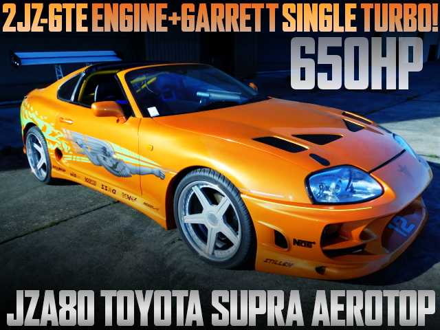 650HP 2JZ SINGLE TURBO JZA80 SUPRA AEROTOP
