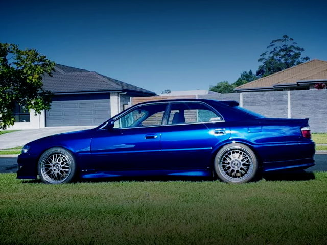 SIDE EXTERIOR JZX100 CHASER BLUE