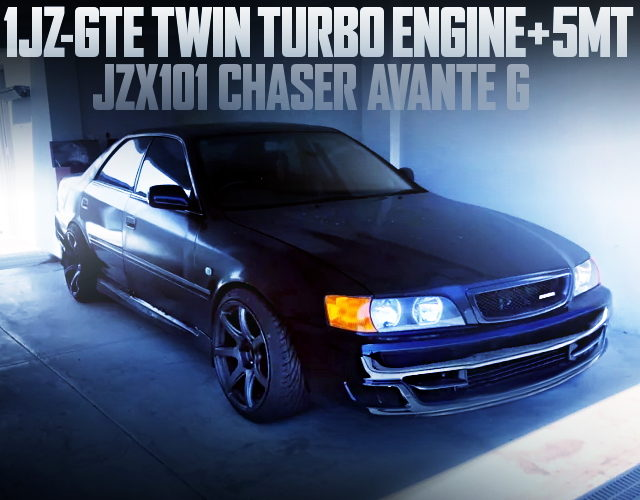 1JZ-GTE TWIN TURBO ENGINE JZX101 CHASER BLACK