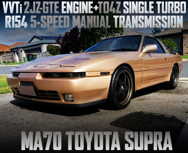 2JZ-GTE ENGINE WITH TO4Z TURBO FOR MA70 SUPRA